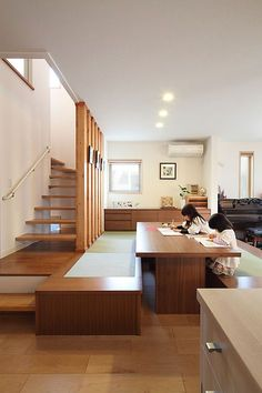 Modern Japanese Interior, Japanese Modern House, Japanese Interior Design, Japanese Home Decor, Japanese Living Rooms, Home Interior Design, Interior Architecture, Modern Living, Tatami Room