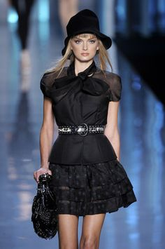 Christian Dior Top Sheer Belted Blouse