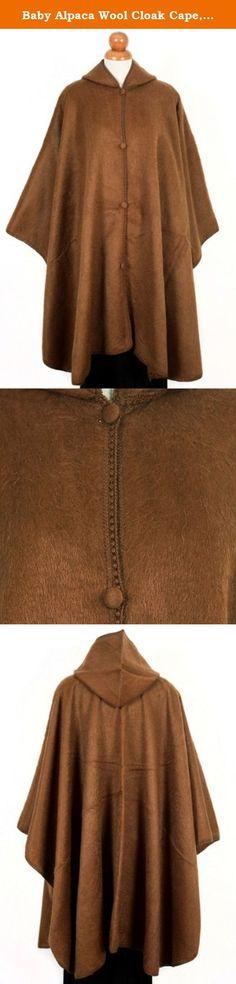 Baby Alpaca Wool Cloak Cape, Hooded. Light Brown, Vicuna Color. Very Warm Still Light. Baby Alpaca Wool Cloak Cape, Hooded. Light Brown, Vicuna Color. Very Warm Still Light.