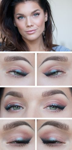 """Today's Look : """"Insomnia Part 2"""" -Linda Hallberg (a very understated but beautiful look good for everyday. For the eyes only MUG pigment in Insomnia and black eyeliner, a touch of blush and nude lips.) 08/11/13"""
