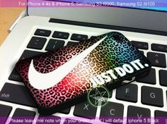 Nike Just Do It Leopard Rainbow Pattern iPhone 4/4S/5, Samsung S4/S3/S2 cover cases | sedoyoseneng - Accessories on ArtFire