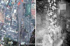 การโจมตีสถานีรถไฟนครราชสีมา จากเครื่องบินทิ้งระเบิด B-24 จากหน่วยบินที่ 231 วันที่ 28 กุมภาพันธ์ 1945 Air raid on Nakhon Ratchasima  Railway Station  by The B-24 bomber from Unit 231 on  February 28, 1945.