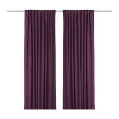 IKEA - WERNA, Mørklægningsgardiner, 1 sæt, , Gardinerne forhindrer det meste lys i at trænge ind i rummet og gi'r privatliv ved at skærme af for nysgerrige øjne udefra.Blokerer effektivt for træk om vinteren og varme om sommeren.Gardinerne kan hænges på en gardinstang eller gardinskinne.Rynkebåndet gør det muligt at lave folder med RIKTIG gardinkroge.Du kan hænge gardinerne på en gardinstang ved at bruge de skjulte stropper eller med ringe og kroge.
