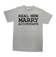 Accountant T Shirt Occupation Shirt Accounting Gift CPA TShirt Profession T-Shirt Math Real Men Marry Accountants Mens Ladies Tee - SA815