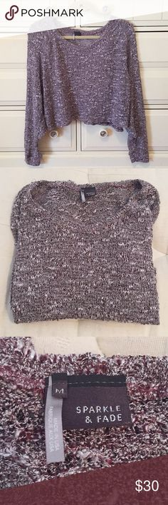 Urban Outfitters 🖤 Sparkle & Fade Crop Sweater Urban Outfitters 🖤 Sparkle & Fade Crop Sweater - NWOT! Never worn! This sweater is super cute with a pair of jeans or shorts - NO TRADES Urban Outfitters Tops Crop Tops