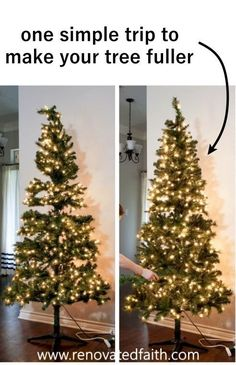 Even if you have a Walmart Christmas tree like I do, your Christmas tree can look fuller with one simple trick! I also include my best Ideas on how to decorate and add ribbon to a Christmas tree on a budget. Decorate your tree like a pro in just a few easy steps without the stress. Works with mesh, garland, tulle and ribbon, even burlap for a beautiful tree through the holidays! Walmart Christmas Trees, Christmas Decor, Holiday Decor, Mesh Garland, Burlap, I Am Awesome, Tulle, Stress, Budget