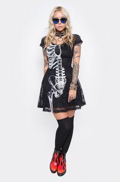 Wishbone Lace Dress