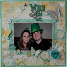 ~*~*~ You & Me ~*~*~ This is my version of PH designer, Alicia O'Connell's page titled 'Precious'. It was designed using the 'Elegance' paper range by Kaisercraft. Scrapbook Layout Sketches, My Scrapbook, Scrapbooking, Prima Marketing, Tim Holtz, Flourish, Ph, Hedgehog, Stampin Up