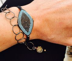 Evil Eye Bracelet Silver Bracelet Macrame by IsminisHeartmade