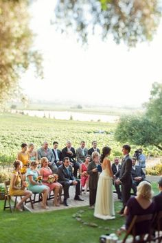 Small weddings...I really like this idea. A moment to really spend with just close family and friends.