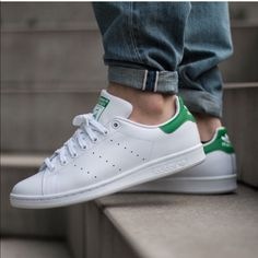 detailed look a28d5 a65c1 adidas Shoes   Adidas Originals Stan Smith Classic Sneaker   Color   Green White   Size  9