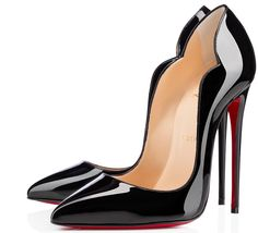 Louboutin Hot Chick Shoes - Hot Chick - Christian Louboutin I've always wanted a pair! Getting these as my Birthday Present!Shoes - Hot Chick - Christian Louboutin I've always wanted a pair! Getting these as my Birthday Present! Black High Heel Pumps, Black Patent Leather Shoes, Black Heels, Christian Louboutin Outlet, Manolo Blahnik Heels, Mode Style, Me Too Shoes, Louboutin Pumps, Court Shoes