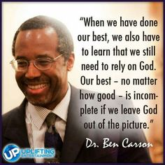 Rely on God. Our best - no matter how good - is incomplete if we leave God out of the picture.