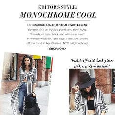 Stylist shows how to wear the monochrome trend with quotes and street style photography - shopbop