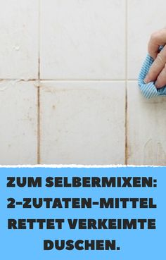 Mix it yourself: remedy saves germinated showers. - Mix it yourself: remedy saves germinated showers. Informations About Zum Selbermixen: 2 - Maintenance Logo, How To Fold Towels, Garden Table And Chairs, Bathroom Cleaning Hacks, Home Organisation, Bathroom Countertops, Clean House, Housekeeping, Life Hacks