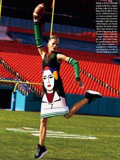 Karolina Kurkova for Vogue Mexico, April 2014
