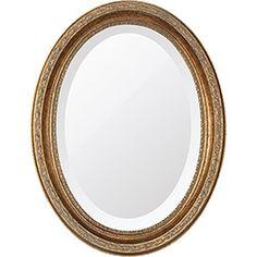 foto: Espelho Oval Bisotê 26412 (25x37cm) Ouro Envelhecido - Ornamental Design