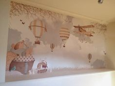 little hand illustration - incredible kids wallpapers (maps, scenes, etc) $55 for 10.5 sq ft of wallpaper