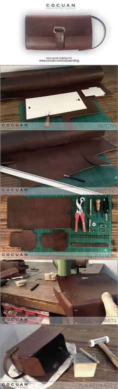 Cool Wallets - Dopp kit making of http://www.cocuan.com #thatseasier #wallets #cool