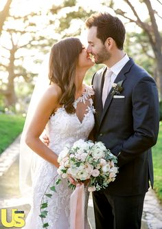 """""""I was nervous, but when I saw him, I felt peaceful,"""" Desiree Hartsock told Us about her walk down the aisle."""