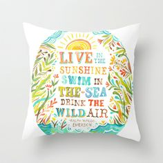 Wild Air Throw Pillow by Katie Daisy - $20.00