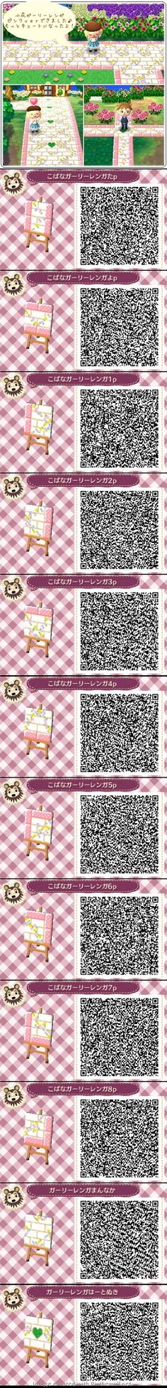 Lovely light pink path QR code