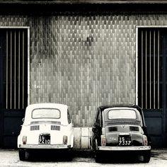fiat 500 in bianco e in nero       #TuscanyAgriturismoGiratola