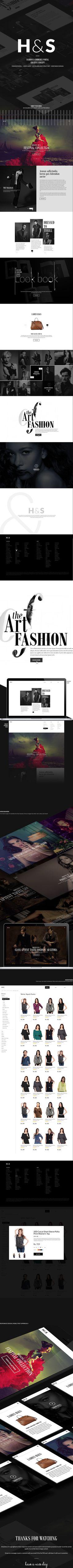 H&S   Fashion Portal   Creative Concept on Behance