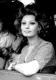 Sophia Loren while filming Matrimonio Alla Italiana (Marriage Italian Style), 1964