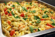 Veggie macaroni (Sandra Bekkari) Veggie Lasagna, Ricotta, Pasta Salad, Healthy Recipes, Healthy Food, Spaghetti, Veggies, Vegan, Ethnic Recipes