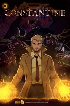 """You just can't keep John Constantine (down. The canceled-too-soon NBC series Constantine about DC Comics' snarky, demon-hunting """"dabbler"""" of the dark arts is Constantine Series, Constantine Comic, Constantine Hellblazer, Stephen Lang, Dc Animated Series, Hellblazer Comic, Lying Game, Batman Ninja, Hq Dc"""