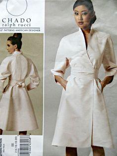 Vogue 1239 Sewing Pattern, Chado Ralph Rucci, 2011 Dress pattern, coat Dress Pattern, Bust 36 to 42, American Designer, 2000s Vogue Pattern by sewbettyanddot on Etsy