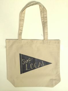 Shop Local Tote Bag Shop Small Screen Printed Bag by andMorgan Printed Bags,  Shop Local fc4e6554d4