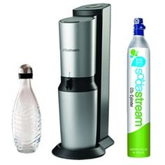 """Green"" carbonated water. We have one and love it!  We reduce our carbon footprint and never run out of sparking water!"