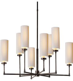 Visual Comfort Thomas OBrien Large Ziyi Chandelier in Bronze with Natural Paper Shades TOB5016BZ-NP | Visual Comfort Lighting Lights | Visual Comfort | Visual Comfort Lighting | Alexa Hampton | Visual Comfort Sconces | Lighting New York | Lighting Fixtures