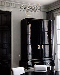 Custom Made Art Deco Black Lacquer Cabinet