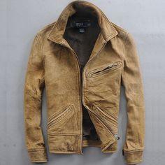 Distressed Khaki Jacket, Polo by Ralph Lauren. Mens Spring Summer Fashion.