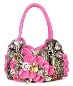 4c9d5cf9e7 Western Pink Camouflage Raised Flower Handbag only  44.  camo  country   popular
