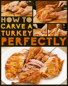 How To Carve A Turkey Perfectly My Daddy was the best turkey craver! Thanksgiving Turkey, Thanksgiving Recipes, Fall Recipes, Holiday Recipes, Holiday Meals, Christmas Recipes, Christmas Desserts, Dinner Recipes, Dinner Ideas