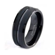 Tungsten Wedding Band,8mm,Black Wedding Band,Mens Wedding Band,Engraving,Anniversary,Brushed,Polish,Size,Mens Ring,Mans,Rings,Set,His Hers by GiftFlavors on Etsy https://www.etsy.com/listing/168403344/tungsten-wedding-band8mmblack-wedding