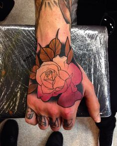 Ombre rose tattoo Mike Stockings