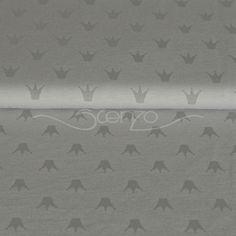 Stenzo Jersey Stoff Krone Stenzo Stoffe bei den Stoffjunkies - Qualität mit Öko Tex zertifizierung!  Hier könnt ihr den für seine Qualität geliebten Jerseystoff von Stenzo kaufen.   #stenzo #stoffjunkies #krone #stoffe #ökotex #stoffekaufen #stoffsucht Stoff Design, Mattress, Home Decor, Fabric Crown, Sewing Patterns, Grey, Decoration Home, Room Decor, Interior Design
