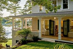 Ohhhhh I love this home.. especially the fact that it is also on water!  It is in Maine