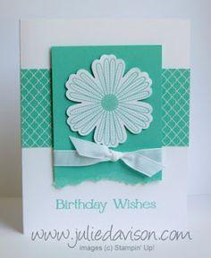 Birthday wishes (verjaardagskaart) met een Mixed Bunch stempel.