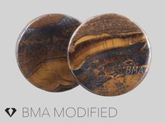 7/8 22mm Concave Tiger Iron Stone Plugs by BMAMOD on Etsy