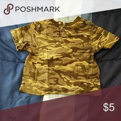 Boys camouflage shirt by garanimals Boys camouflage t-shirt garanimals  Shirts & Tops Tees - Short Sleeve