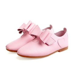 young girls leather shoes soft dancing flat shoes spring fall candy color girl's bow tie casual leather all-match princess shoes alishoppbrasil
