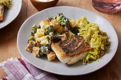 Crispy+Barramundi+with+Melted+Leek+&+Roasted+Vegetables.+Visit+https://www.blueapron.com/+to+receive+the+ingredients.