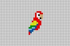 Easy Perler Bead Patterns, Diy Perler Beads, Perler Bead Art, Loom Patterns, Tiny Cross Stitch, Cross Stitch Designs, Cross Stitch Patterns, Easy Pixel Art, Pixel Art Grid