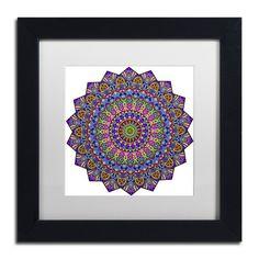 "Trademark Art 'Mystical Mandala' by Kathy G. Ahrens Framed Graphic Art Size: 11"" H x 11"" W x 0.5"" D, Matte Color: White"